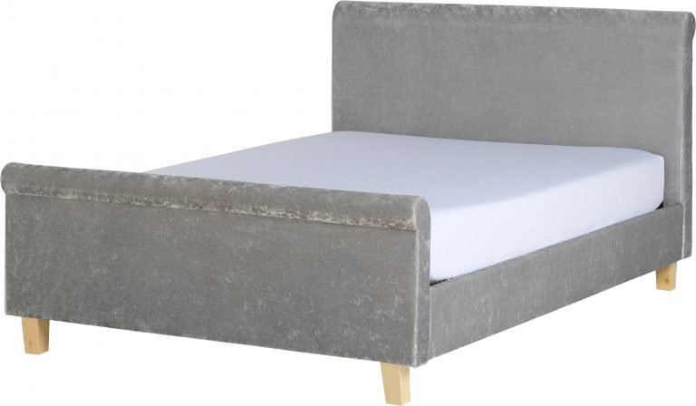 SHELBY 4'6FT DOUBLE CRUSHED VELVET BED