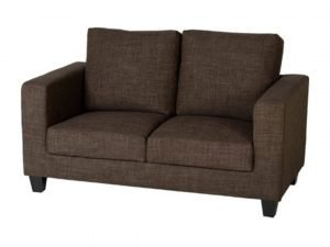 TEMPO TWO SEATER SOFA IN A BOX BROWN FABRIC